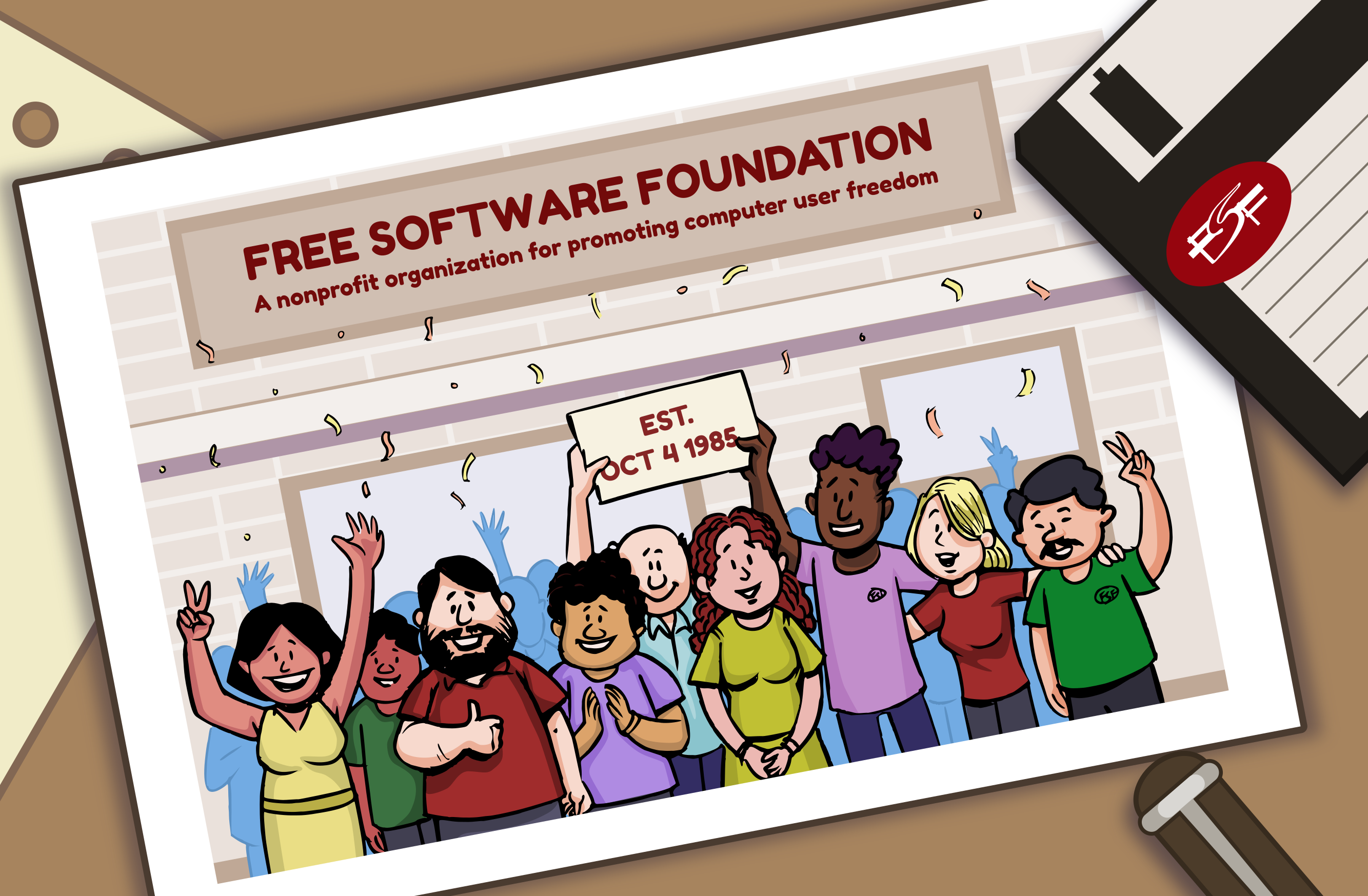 All aboard for software freedom! Help us reach our goal of 500 new members before Jan. 18