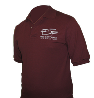 FSF polo shirts have arrived at the shop!
