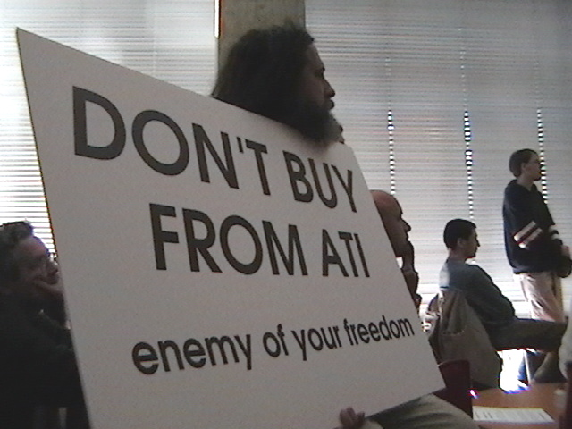 Don't Buy From ATI - enemy of your freedom